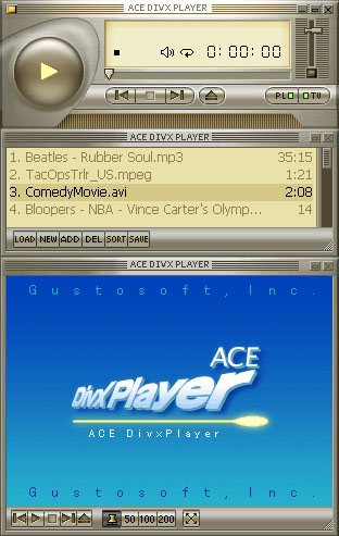 Ace DivX Player ScreenShot - click to enlarge