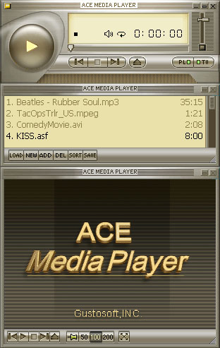 Ace Media Player ScreenShot - click to enlarge